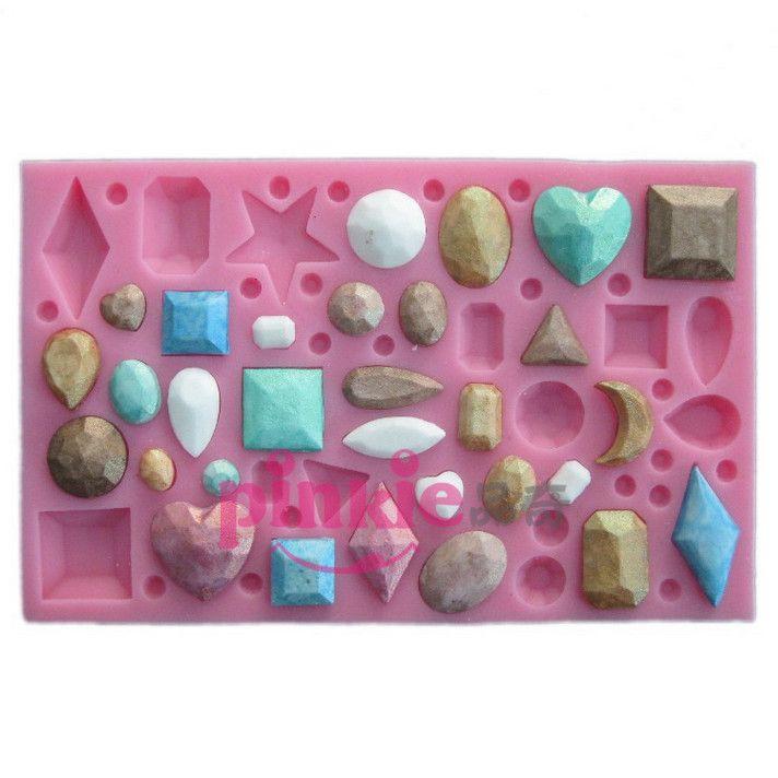 Mini joya en forma de pasta de azúcar del molde, resina del caramelo de chocolate molde de pastel de silicona, herramientas fondant cake decorating en   de   en AliExpress.com | Alibaba Group