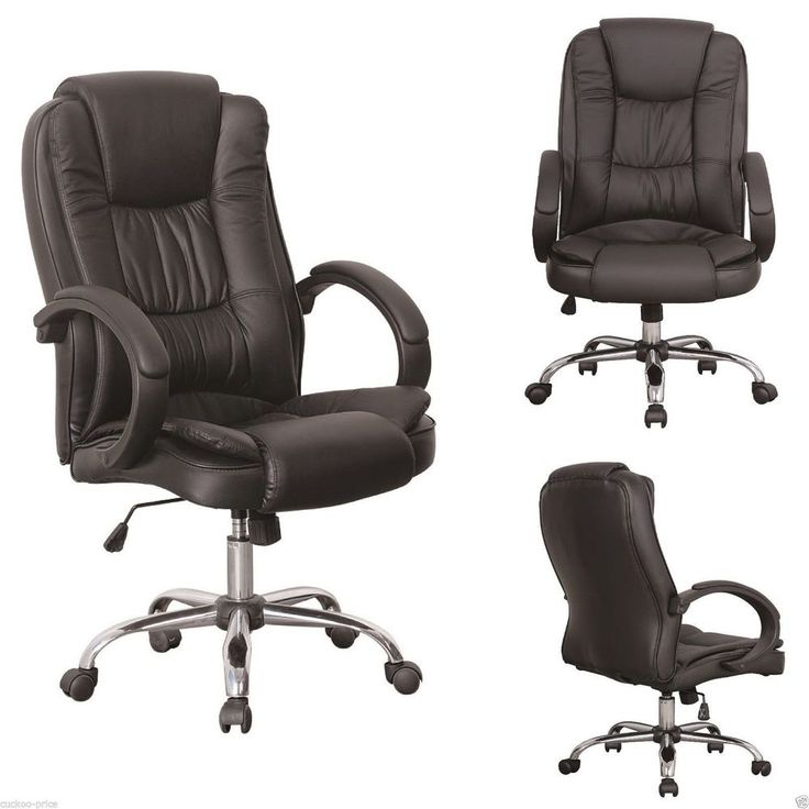 Leather office chairs executive pc computer desk luxury for Luxury leather office chairs