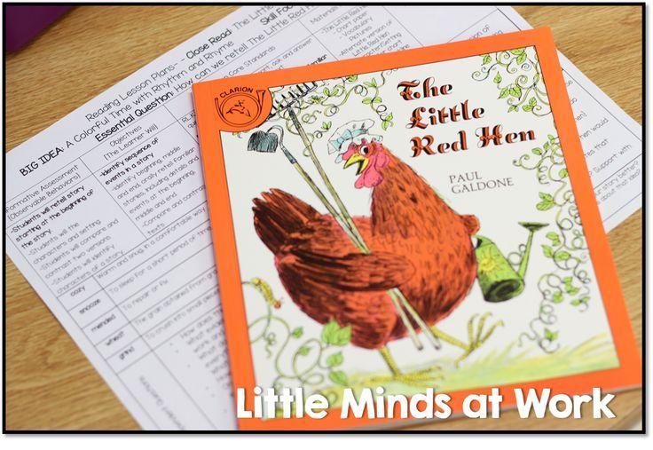 The little red hen close read in kindergarten