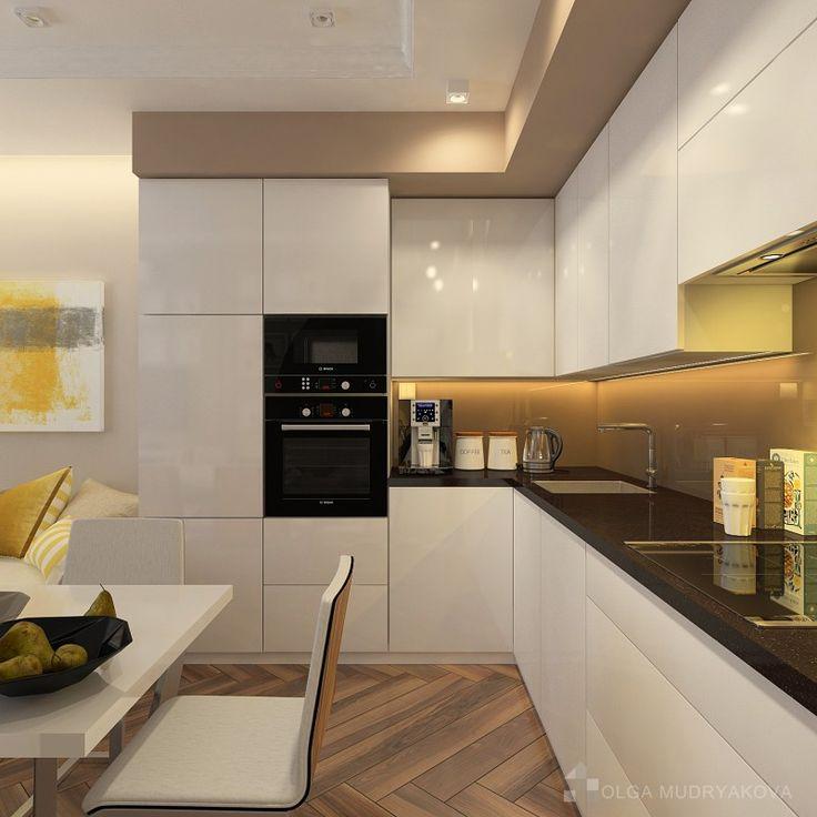 Дизайн белой кухни в ЖК Новый Оккервиль в Спб