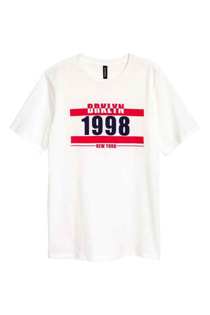 T-shirt avec impression - Blanc/New York - FEMME | H&M FR