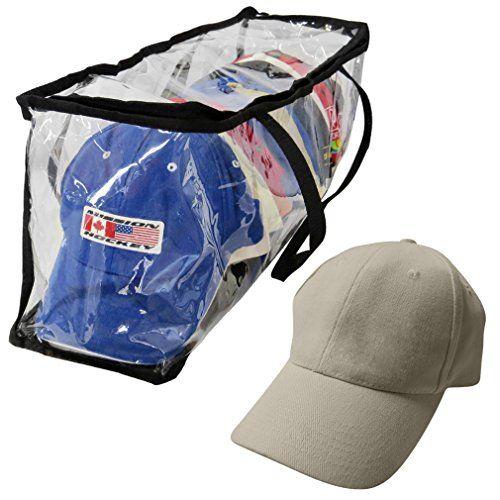 Bolsa de almacenamiento con cremallera Evelots Gorra de béisbol de plástico transparente con organizador/con asas de color Evelots http://www.amazon.es/dp/B00HZ0IEG0/ref=cm_sw_r_pi_dp_BmMOwb10BSGNX