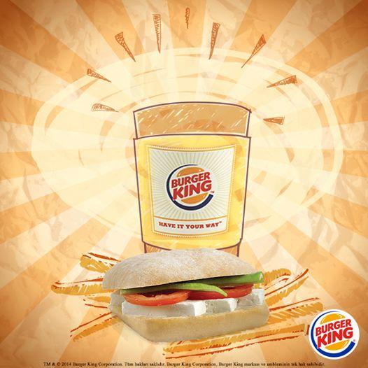Nefis beyaz peynir, domates, biber ve zeytin ezmesiyle hazırlanan Ciabatta Sandwich ile güne enerjik başla! Üstelik yanında çay bedava! http://www.burgerking.com.tr/kampanyalar/kral-kahvalti