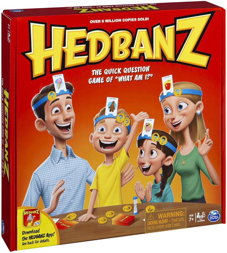 AmazonSmile HedBanz Family Quick Question Guessing Board