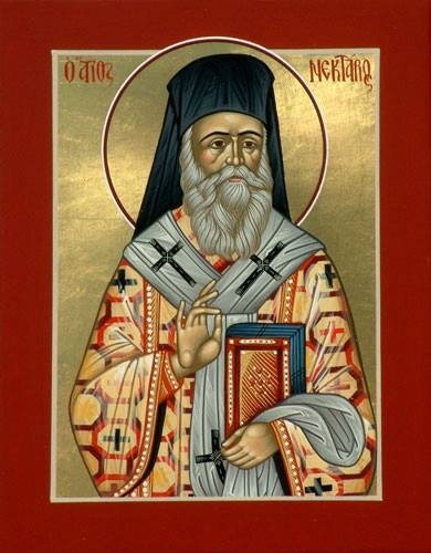 """""""Do not think that you have a right to complain when your prayers are not answered. God fulfils your desires in a manner that you do not know.""""  -St. Nektarios the Wonderworker"""