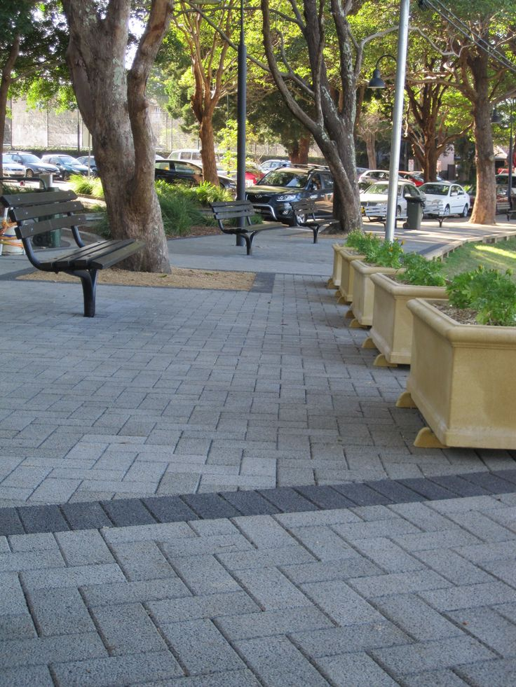 HydroSTON permeable concrete pavers used for a footpath at Newington College, Stanmore NSW, Australia.