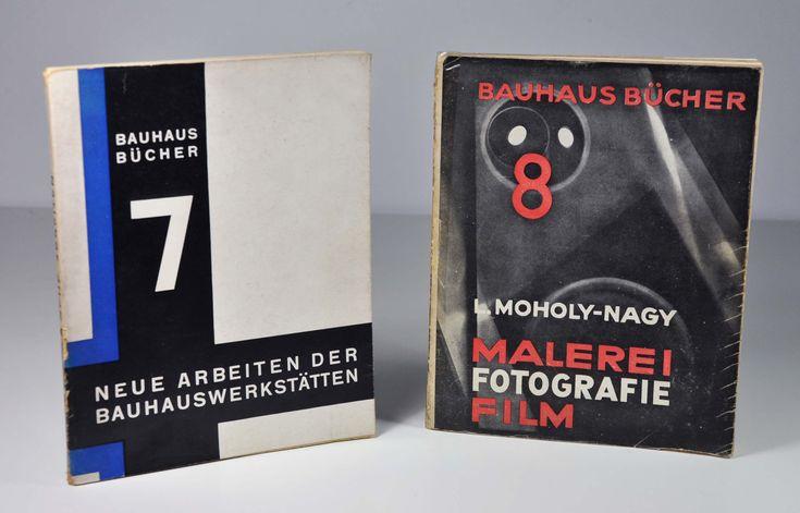 Bauhaus Bücher 7, Neue Arbeiten Der Bauhauswerksträtten (1925) & Bauhaus Bücher 8, L. Moholy-Nagy, Malerei Fotografie Film (1927). Librairie L'Autre sommeil, Bécherel cité du livre #bauhaus