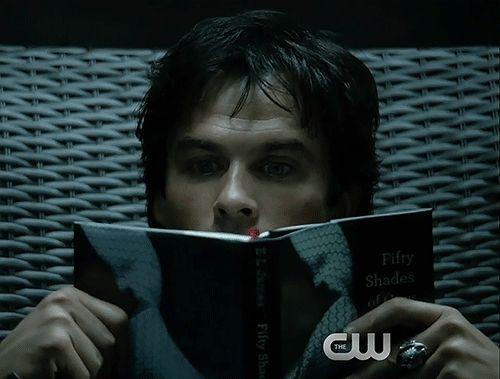 Tvd  - Season 8 - Damon getting ready for Elena's return! gif