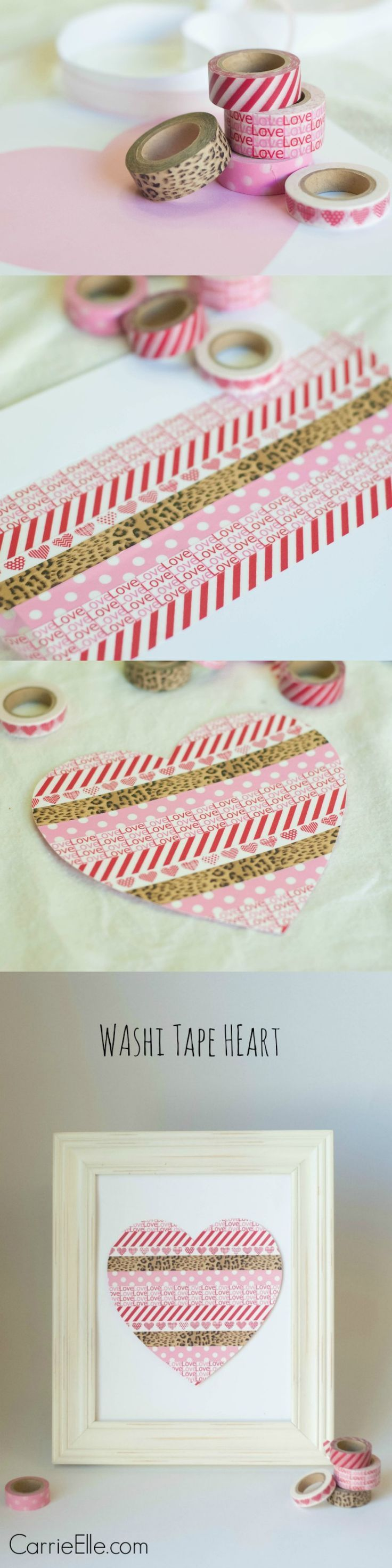 This easy washi tape craft is adorable, inexpensive, kid-friendly, and versatile, too! Be sure to check out all the fun ideas and other crafts that you can make with this washi tape heart.