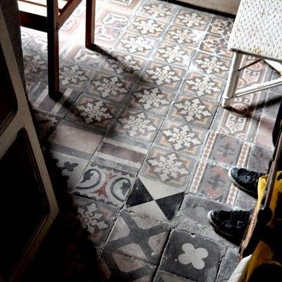 couldn't we buy up all the odd and end tiles at the rebuild store and make a cool floor?