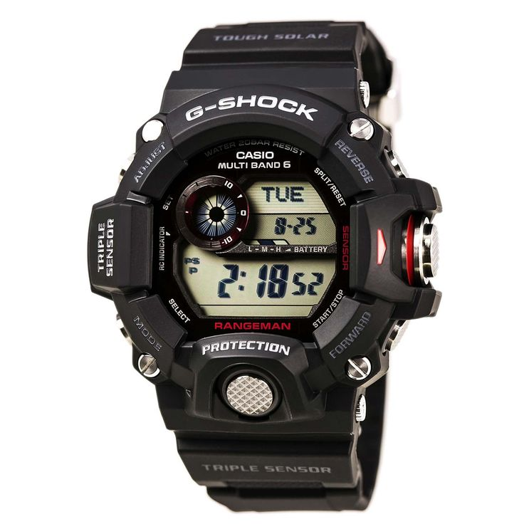 Casio GW9400-1 Men's G-Shock Rangeman Tough Solar Digital Grey Dial Black Resin Strap Dive Watch
