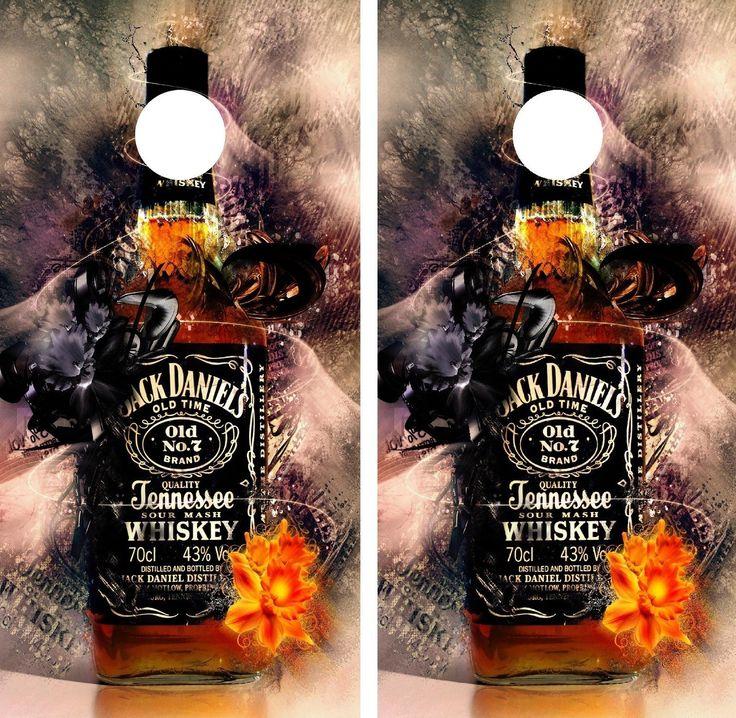 Jack Daniels Cornhole Bean Bag Toss Graphics 2  48 x 24 Decals FREE SHIPPING  Cornhole