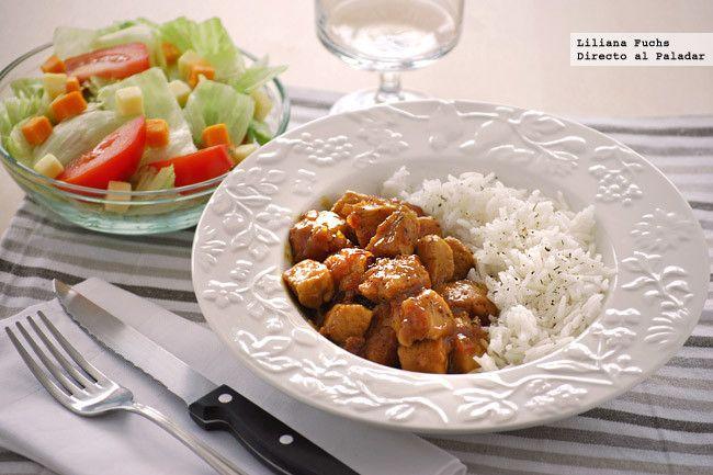 Receta de solomillo de pavo en salsa de naranja y mostaza. Con fotos del paso a paso, consejos y sugerencias de degustación. Recetas de carnes y aves