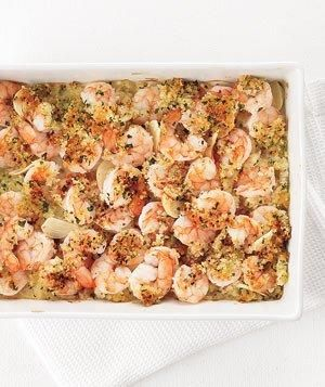 Garlicky Baked Shrimp recipe