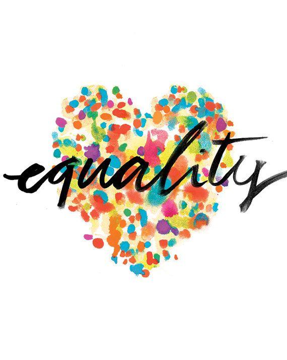 equality print by finedaypress on etsy
