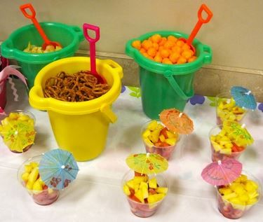 under the sea party snacks- new pails & shovels
