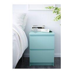 IKEA - MALM, Commode 2 tiroirs, plaqué chêne blanchi, , Peut aussi être utilisé comme table de chevet.Le placage en bois véritable assure un vieillissement en beauté de cette commode.Les tiroirs, qui sont faciles à ouvrir et à fermer, sont équipés d'arrêts.