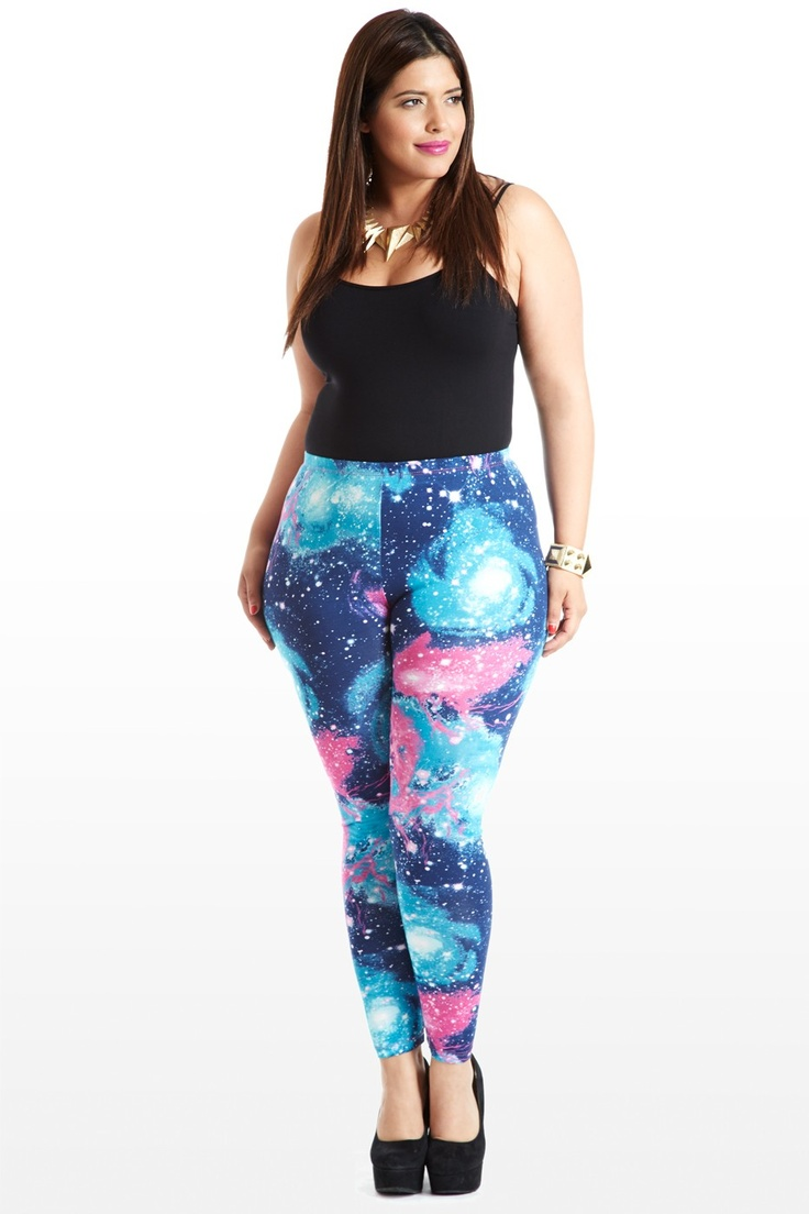 Galaxy Stretch Leggings | My style | Fashion, Plus size ...
