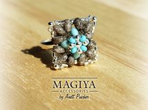 Turquoise x Stone ✿ ビーズリング by MAGIYA