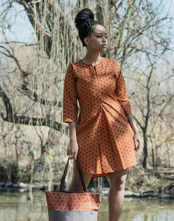 Shirt dress ankara dress Ankara fashion Ankara Clothing