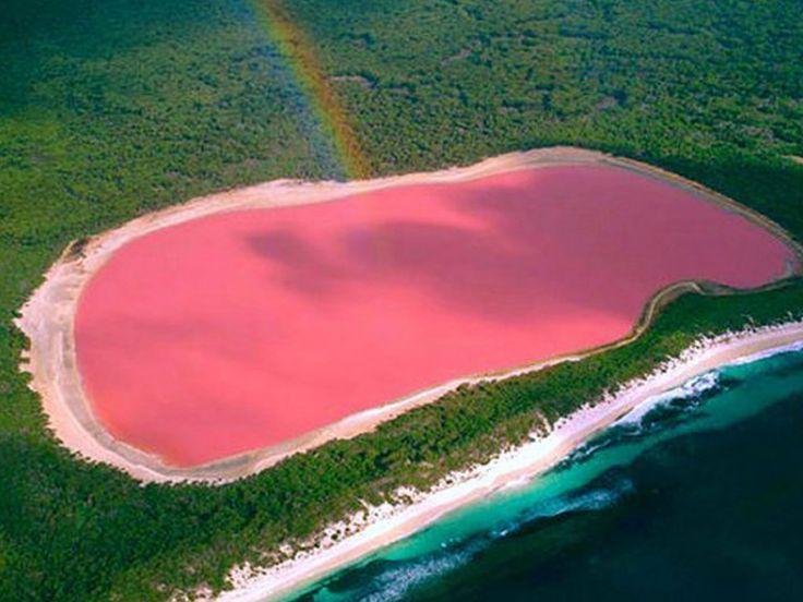 Lake Hillier è un lago dell'Australia occidentale immediatamente riconoscibile per il suo insolito