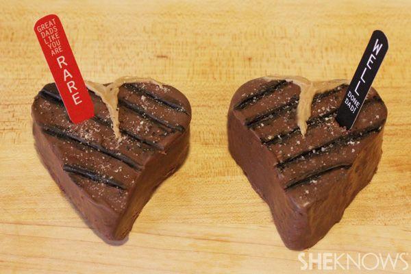 Steak brownies for Fathers DayDesserts, Brownie Recipes, Fun Food, Fathers Day Brownies, Fathers Day Bbq, Cute Ideas, Brownies Recipe, Father'S Day, Steak Brownies