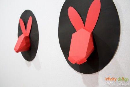 D.I.Y. กระต่ายน้อยจากกระดาษ ติดผนัง น่ารัก แต่งบ้านสวยๆ