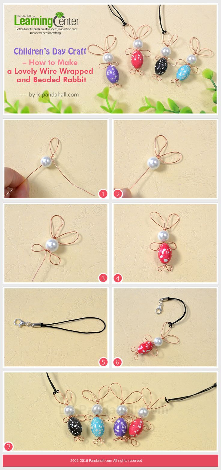 Children's Day Craft – How to Make a Lovely Wire Wrapped and Beaded Rabbit from LC.Pandahall.com