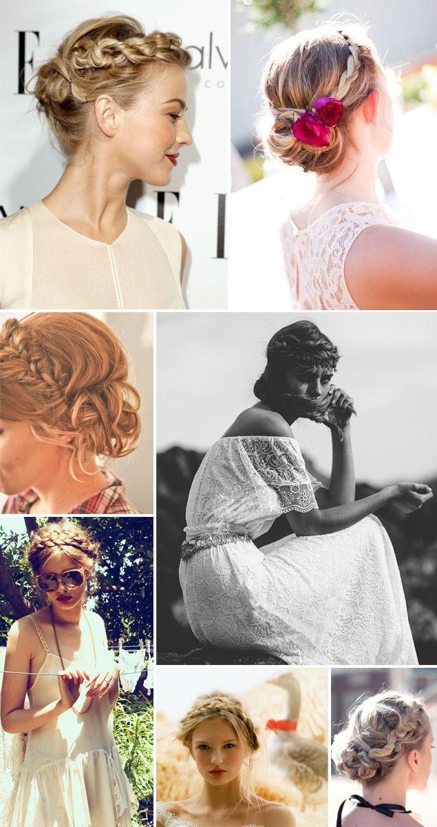 Trendy Wedding, blog idées et inspirations mariage ♥ French Wedding Blog: La mariée et sa couronne tressée : 16 inspirations coiffure