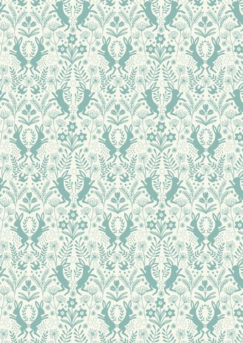 """Little Hares Blue"" Craft Cotton Fabric link: http://www.elephantinmyhandbag.com/all.php…"
