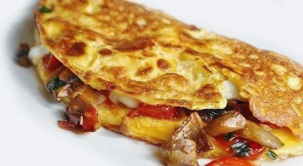 Omelette With Mushrooms, Tomatoes And Cheese Recipe on Yummly. @yummly #recipe