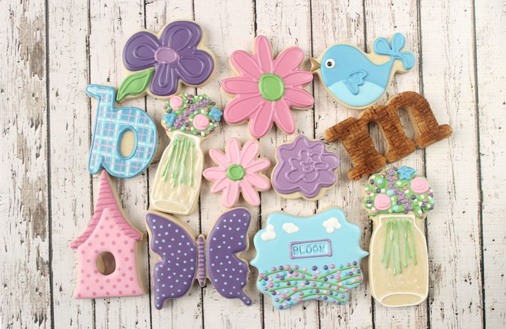 Spring Bloom Decorated Cookie Collection