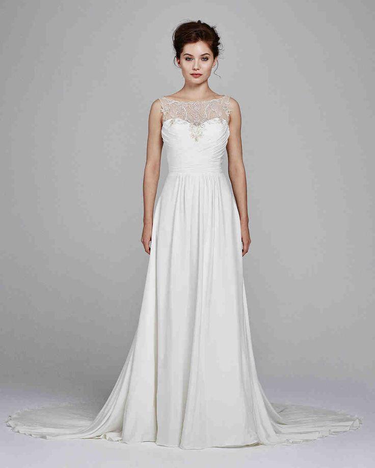 "Kelly Faetanini Fall 2017 Wedding Dress Collection | Martha Stewart Weddings – ""Ren"" silk crepe wedding dress with embroidery"