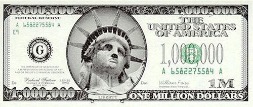 Is there a US one million dollar bill? - Quora