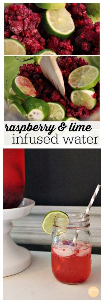 Raspberry  Lime Infused Water