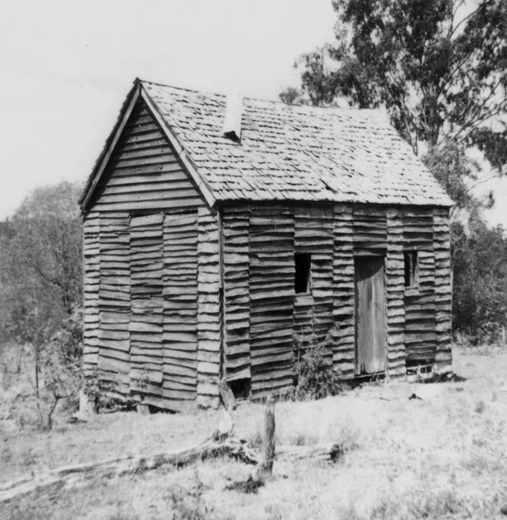 Aramara - Settlers hut - wooden house with shingle roof possibly belonging to Robert Kidd circa 1896 (SLQ)