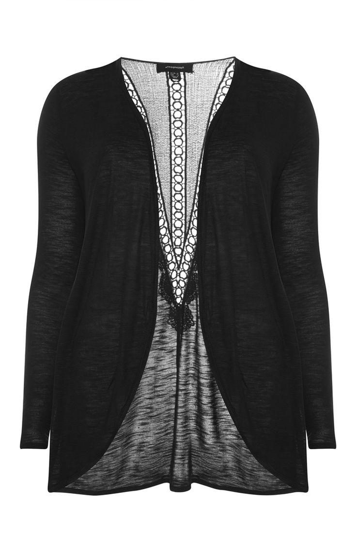 Primark - Zwart vest met gehaakte rug