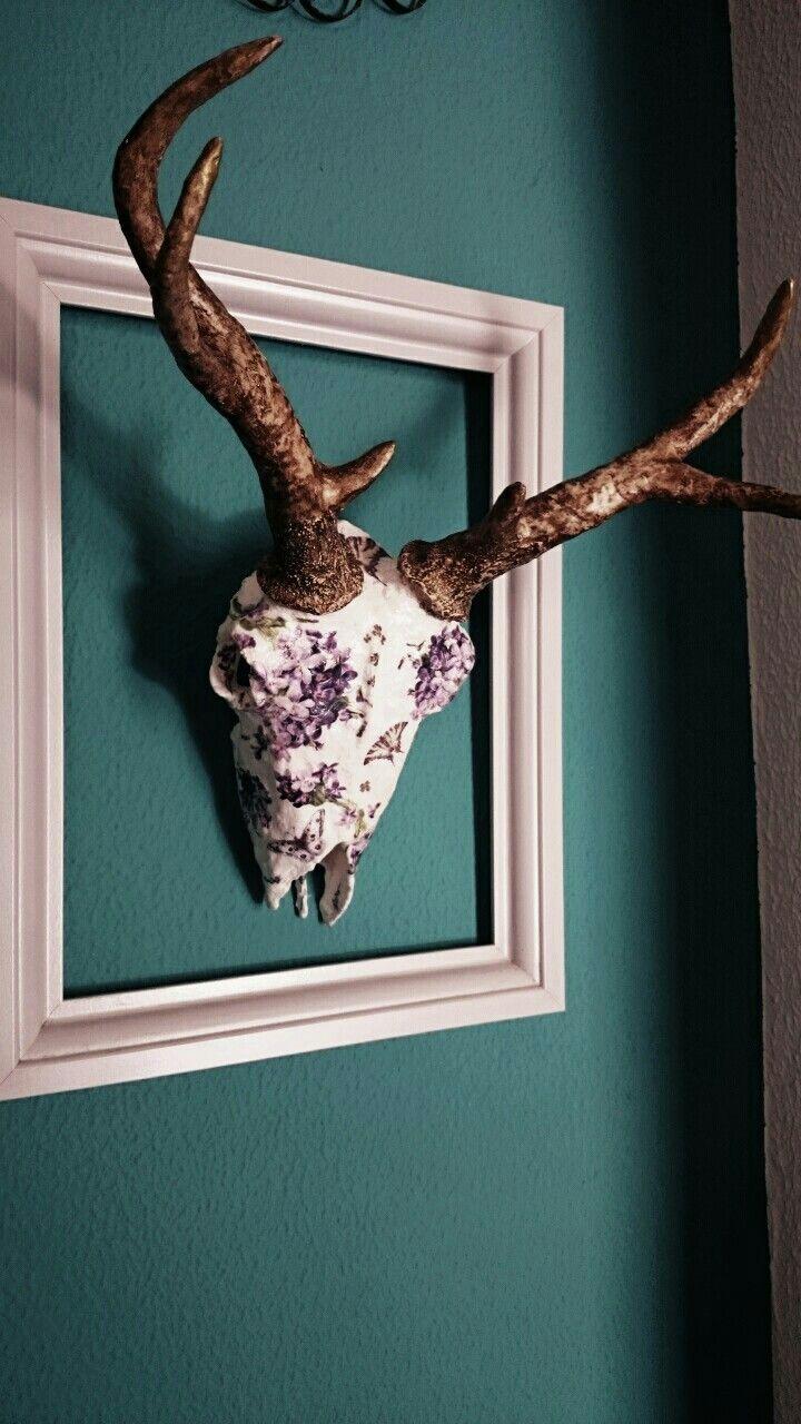 Handmade deer skull