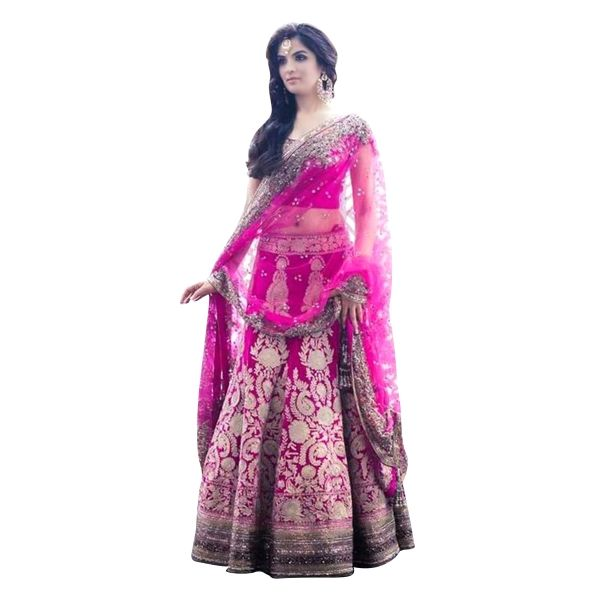 Buy Pink Color Banglori Silk With Embroidery Work Semi-Stitched Lehenga Choli Online at cheap prices from Shopkio.com: India`s best online shoping site