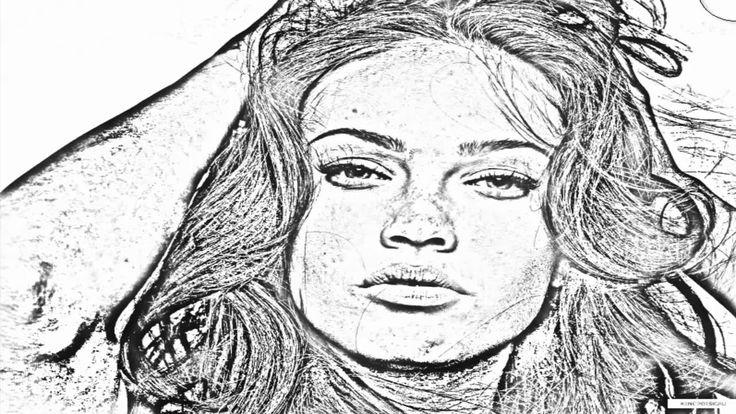 Tutorial - Imagen o Foto real a Dibujo  con Adobe Photoshop HD