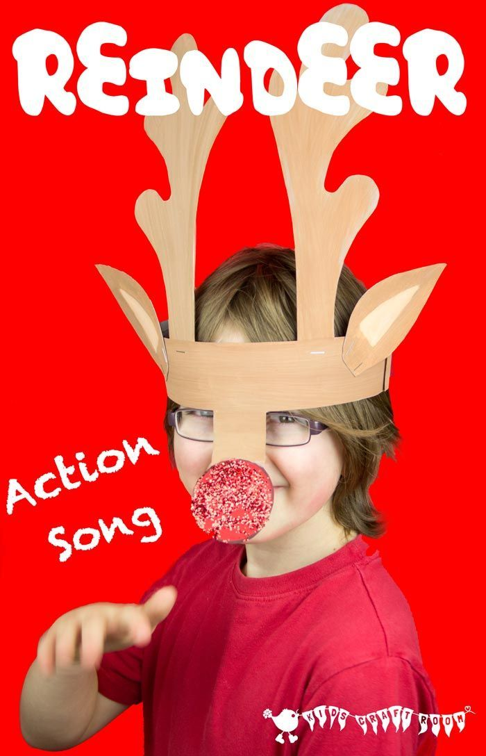 """We love to sing songs and often make them up using familiar tunes. Here's """"I'm a Little Reindeer"""", which we created to go with our Printable Reindeer Antlers Craft. We hope you like it."""