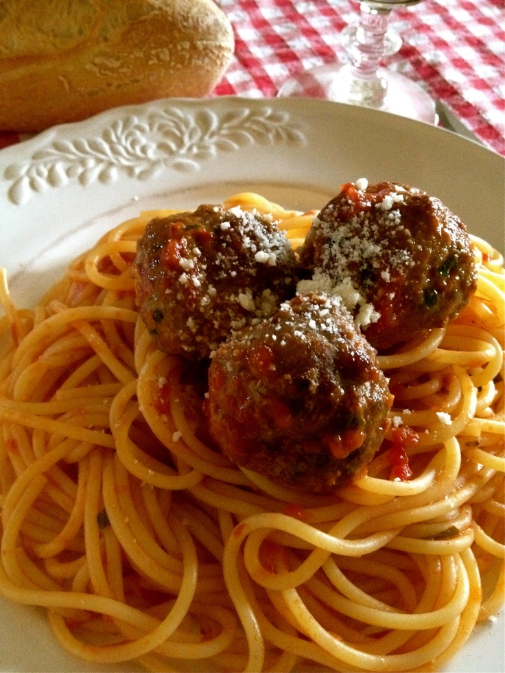 Frank Sinatra Meatballs. Recipe is supposedly from Frank's Mother Dolly.  Gotta try this one.