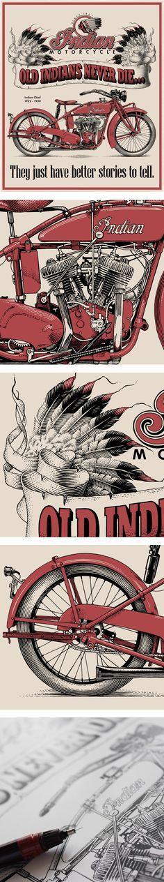 Old Indians never die..., Иллюстрация © АндрейКокорин