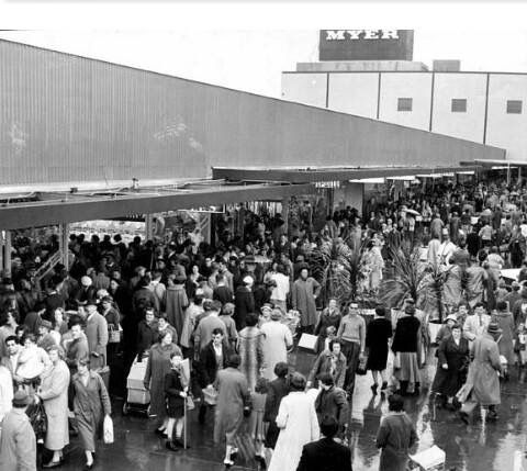 The opening of the Chadstone Shopping Centre, 1960s.