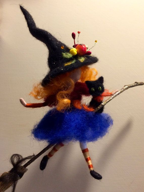 Nadel gefilzte Fee Waldorf inspirierte Hexe mit von DreamsLab3