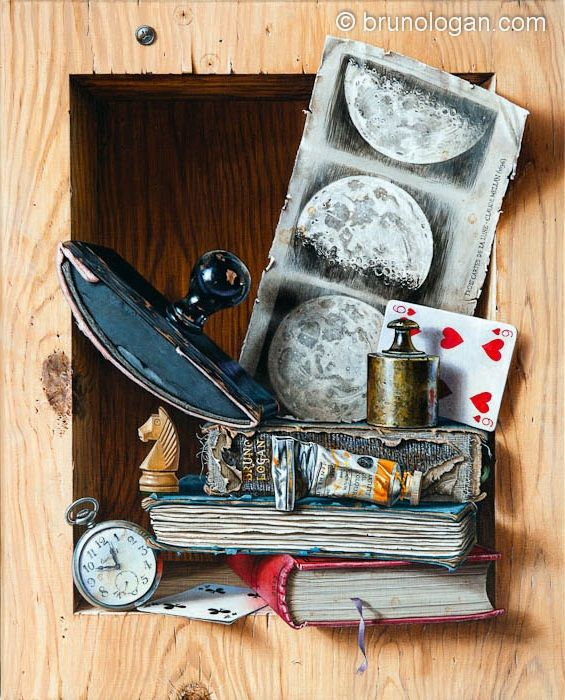 trompe l'oeil – Bruno Logan (French, born 1969).