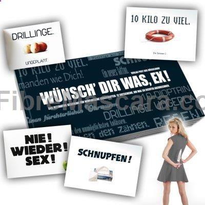 Schluss mit Nettigkeiten – Sag' dem oder der Ex endlich, was Du ihm oder ihr so alles an den Hals wünschst. Ganz einfach, mit dem Gutscheinbuch für Ex Partner. via www.monsterzeug.de