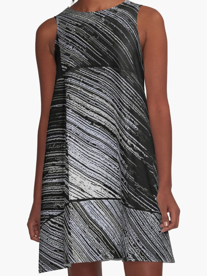 """Line Art The Scratch"" A-Line Dresses by cool-shirts 