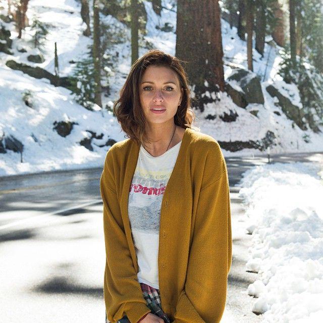 "Aly Michalka via @alymichalkaofficial Instagram ""Winter wonderland in @sequoianationalpark"""
