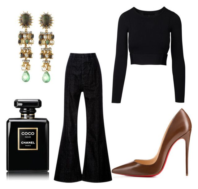 """Earrings"" by fpantopikou on Polyvore featuring Alexis Bittar, Christian Louboutin, Marni and Chanel"